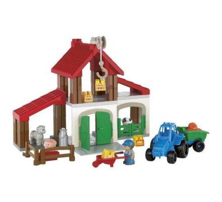 Exploitation agricole, jeu de construction pour enfant 70 pièces Ecoiffier