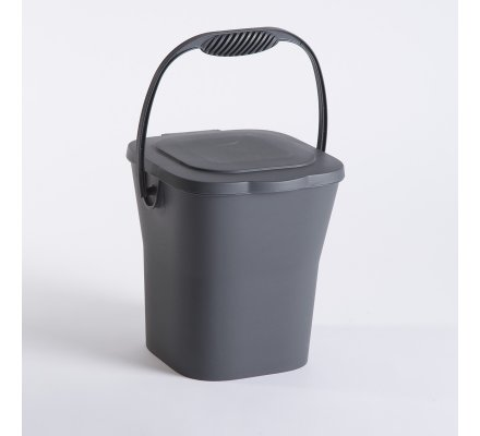 Seau à compost avec anses Gris anthracite 6 L