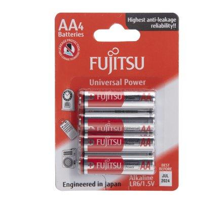 Lot de 40 piles LR6/AA Fujitsu Universal Power alcalines sous Blister