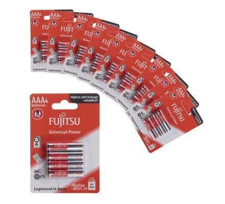 Lot de 40 piles LR03/AAA Fujitsu Universal Power alcalines sous Blister