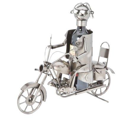 Porte bouteille Métal motard