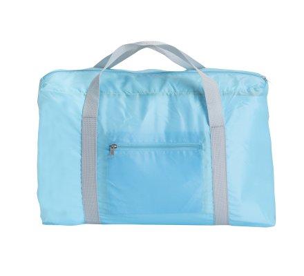 Sac de voyage pliable avec anses coloris bleu 47x20x31cm