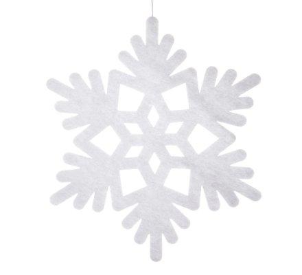 Lot de 6 décorations de Noël, silhouette blanche à suspendre, flocon, cloche, étoile et ange D 40cm