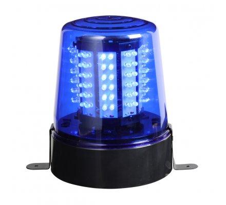 Gyrophare 108 leds bleu mouvement 360° pour intérieur avec système de fixation