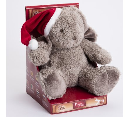 Peluche de Noël lapin assis 21x22cm