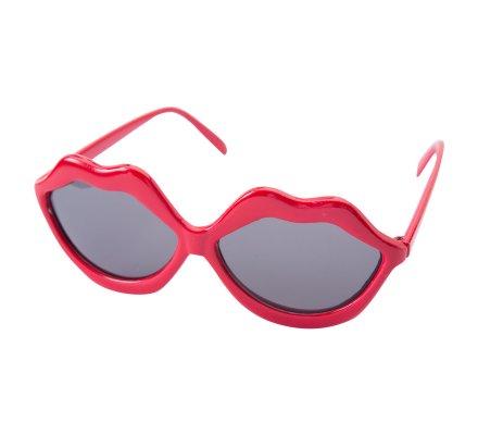 Lunettes forme lèvres rouges