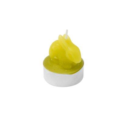 Lot de 6 bougies chauffe-plat lapin vert
