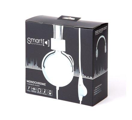 Casque audio réglable avec micro coloris blanc