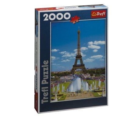 Puzzle Trefl 2000 pièces décor Tour Eiffel format portrait 96x68cm
