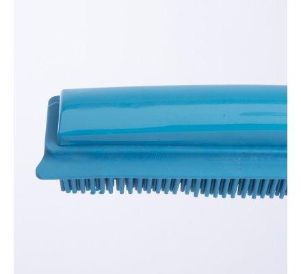 Balai rubber télescopique 2 en 1 coloris bleu