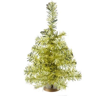 Sapin de Noël miniature déco de table doré 30x20cm