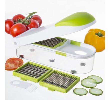 Hachoir/coupe légumes avec récipient intégré
