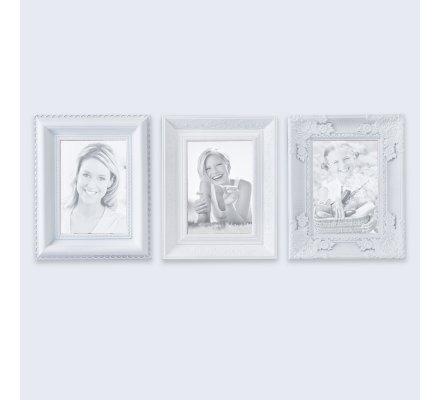 3 cadres photo design avec moulures 20x25cm