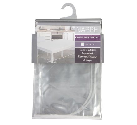 Nappe imperméable en PVC transparent 140x250cm