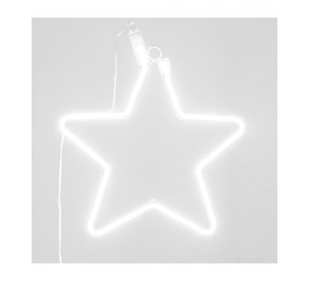 Étoile déco néon LED 29x28,5cm