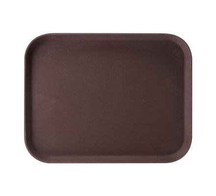 Plateau pro antidérapant rectangulaire marron 46x36cm