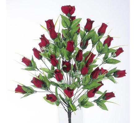 Bouquet de roses rouges artificielles 36 fleurs