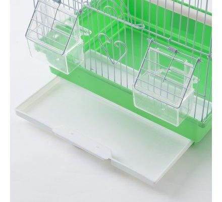 Cage à oiseaux verte 30x23x39cm