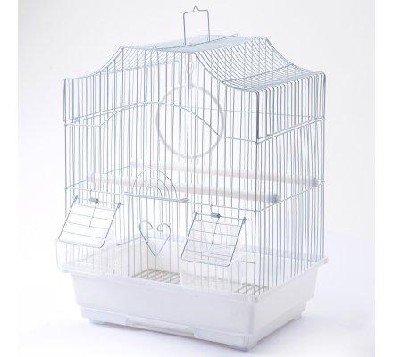 Cage à oiseaux blanche 30x23x39cm