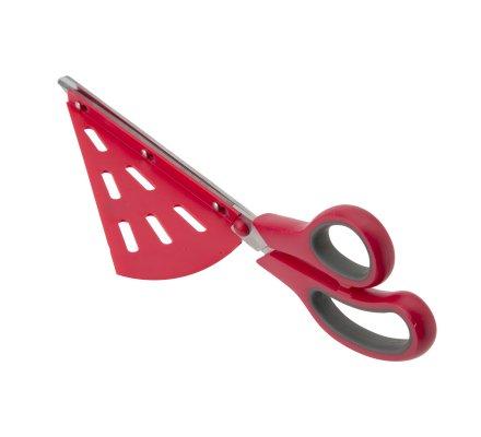 Ciseaux à pizza + support part, spatule intégrée