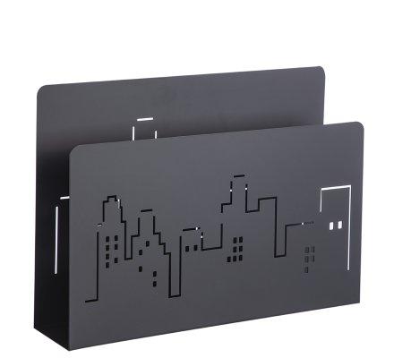 Porte-revues New York en métal ajouré noir