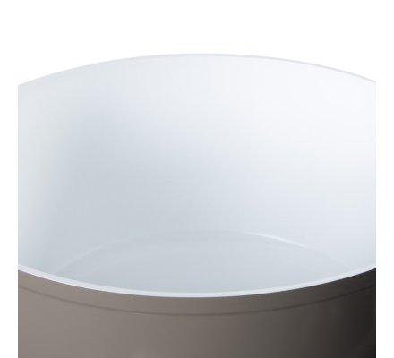 Faitout en aluminium forgé revêtement céramique D28cm