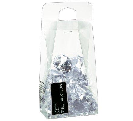 Diamants déco transparent 32mm 20 pièces