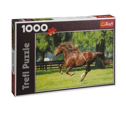 Puzzle Trefl 1000 pièces cheval au galop format paysage 68x48cm
