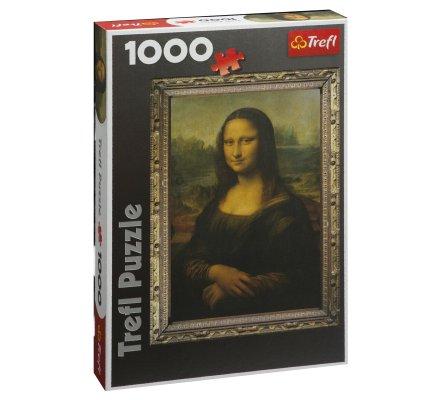 Puzzle Trefl 1000 pièces Mona Lisa, La Joconde format portrait 68x48cm