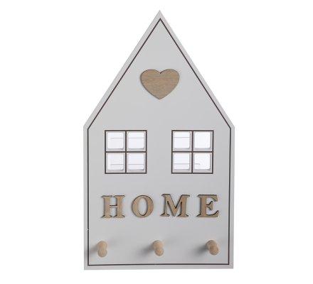 Panneau à clés, porte-clés mural forme maison en bois