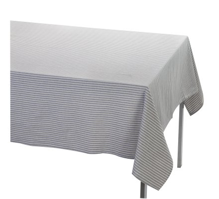 Nappe 140x240cm 100% coton coloris bleu rayé blanc Atmosphéra