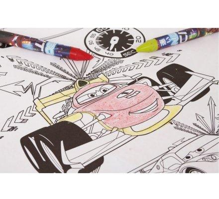 Table de coloriage Disney Cars avec rouleau de dessin et crayons géants