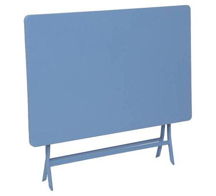 Table pliante rectangulaire 4 places bleu Hespéride 110x70x71cm