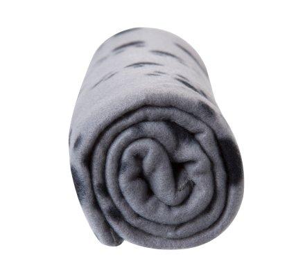 Plaid pour animaux gris avec motif pattes 100x70cm