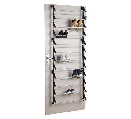 Range Chaussures Special Porte A Suspendre Capacite 36 Paires En Metal Et Plastique Noir