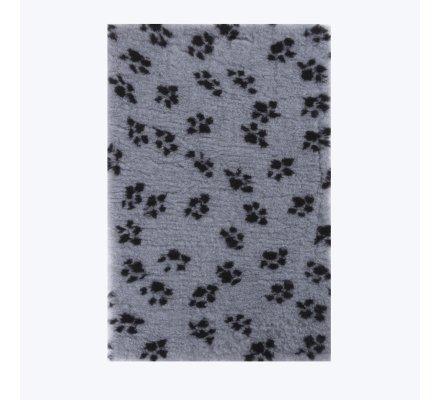 Tapis pour chien hygiénique anti-humidité lavable 50x75cm Gris motif pattes
