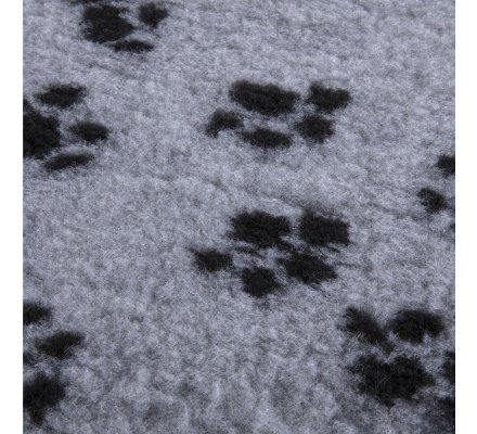 Tapis pour chien hygiénique anti-humidité lavable 75x100cm Gris motif pattes