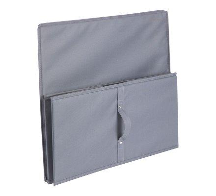 Boîte de rangement pliable intissé gris 55x45x25cm