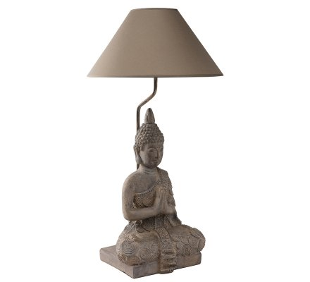 Lampe Bouddha abat-jourkaki 36x36x67cm
