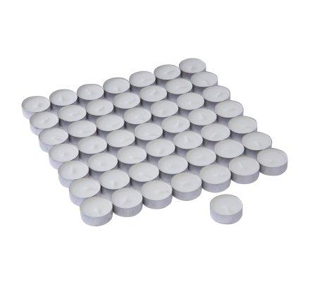Lot de 100 bougies chauffe-plat blanches capacité 4h