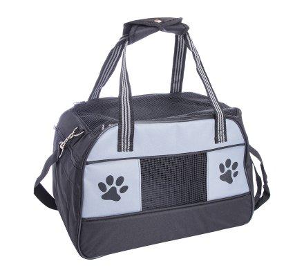 Sac de transport pour animaux de compagnie avec anses et grille d'aération 42x27x30cm
