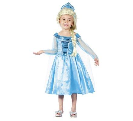 Déguisement fille princesse robe bleu 7-9 ans