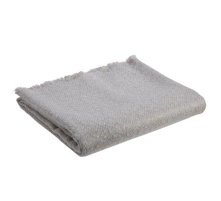 Plaid 100% acrylique 125x150cm coloris gris clair