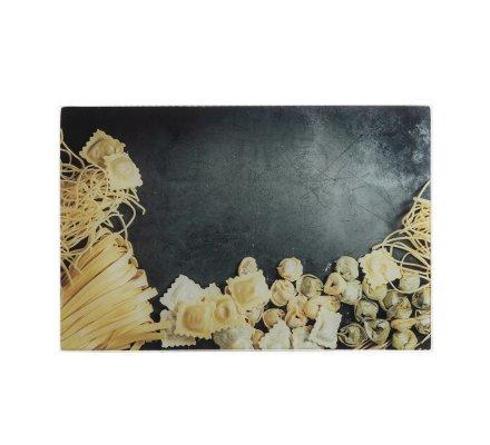 Planche à découper en verre anti-rayures pasta 30x20cm