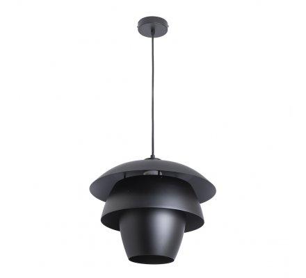 Luminaire suspension, lustre en métal noir design D 38cm Atmosphéra
