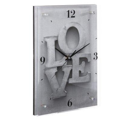 Horloge Love en verre 36x25x3cm