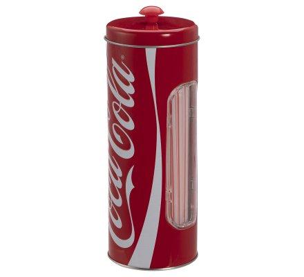 Boite de rangement pailles Coca Cola en métal + 25 pailles gratuites