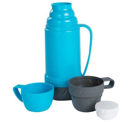 Bouteille isotherme double tasse capacité 1L coloris Bleu
