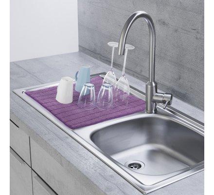 Lot de 3 tapis de vaisselle, protège évier 50x38cm coloris aléatoire