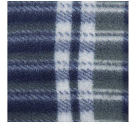 Plaid polaire pour animaux à carreaux bleu 100x70cm